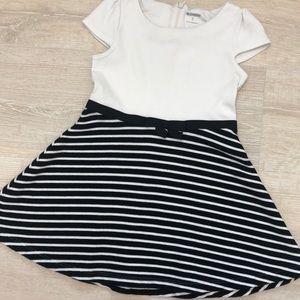 Gymboree Toddler, Black, White, Stripped Dress